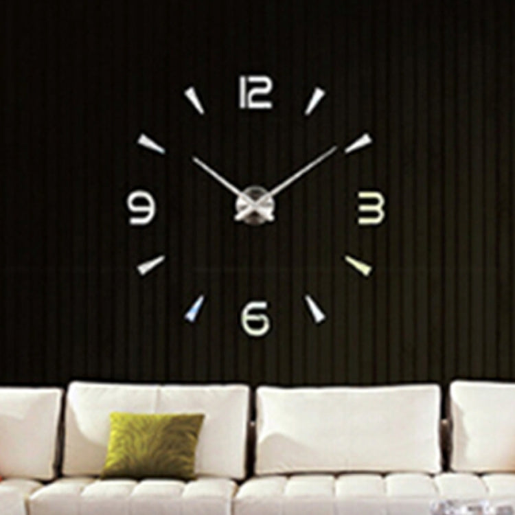 Bedroom Home Decoration Watch Frameless 3D Mirror Large DIY Wall Sticker Mute Clock, Size: 100*100cm(Silver) - Star Produkte