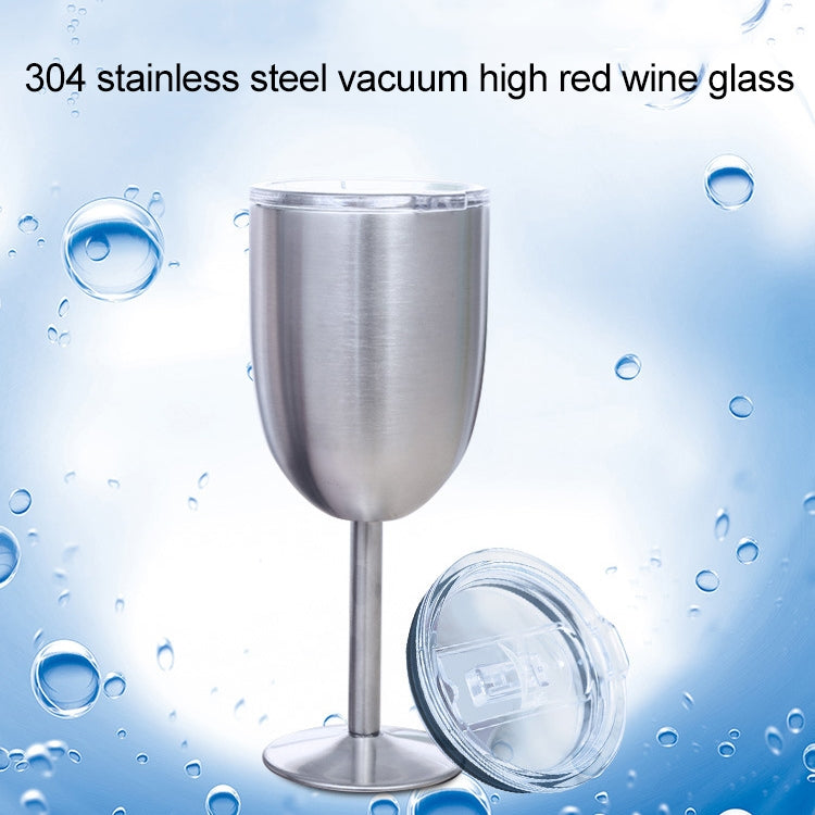 New Fashion Stainless Steel Vacuum Cup Red Wine Cocktail Goblet Creative Gift(Silver) - Star Produkte