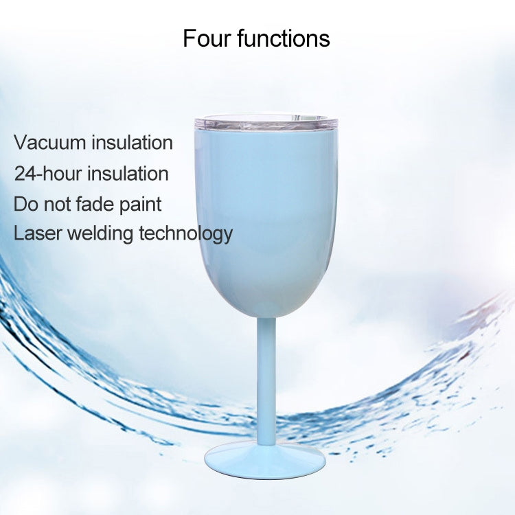 New Fashion Stainless Steel Vacuum Cup Red Wine Cocktail Goblet Creative Gift (Baby Blue) - Star Produkte