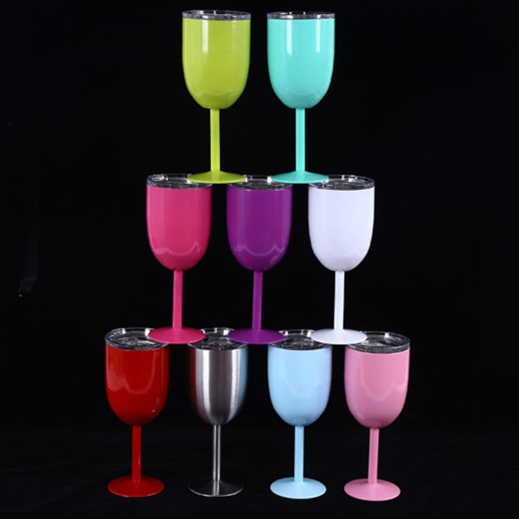 New Fashion Stainless Steel Vacuum Cup Red Wine Cocktail Goblet Creative Gift (White) - Star Produkte