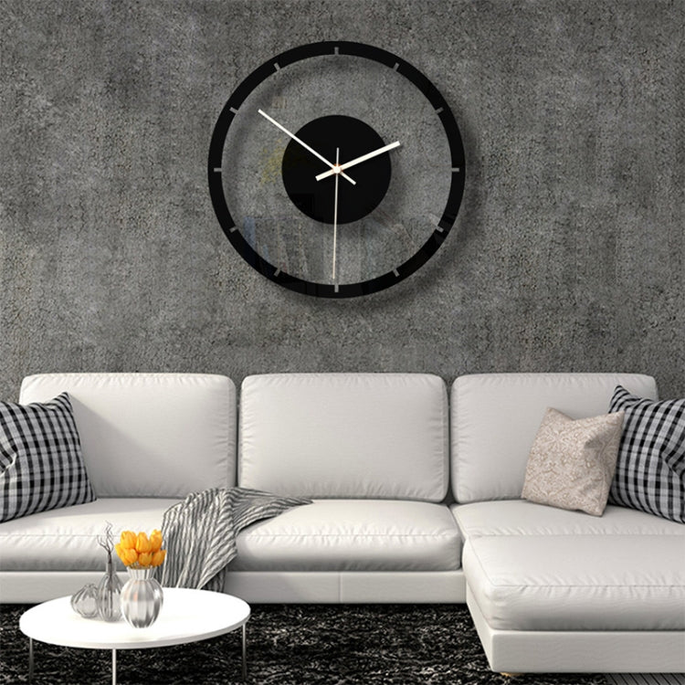 TM011 A Round Wooden Dial Transparent Acrylic Mute Wall Clock - star-produkte.myshopify.com