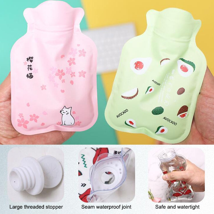 Cartoon Warm Safe Reliable PVC Household Water Injection Hot Water Bag, Size:S, 17x11cm - Star Produkte