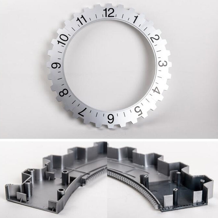 Creative Home Office Bedroom Gear Wall Clock Decoration (Black) - Star Produkte