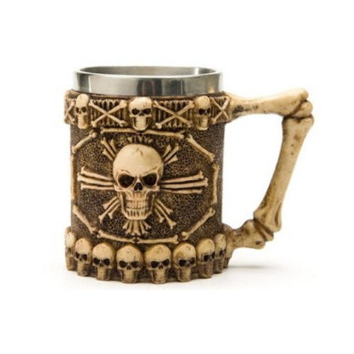 Pirate Skull Shape Resin Double Layer Stainless Steel Mug Water Cup - Star Produkte