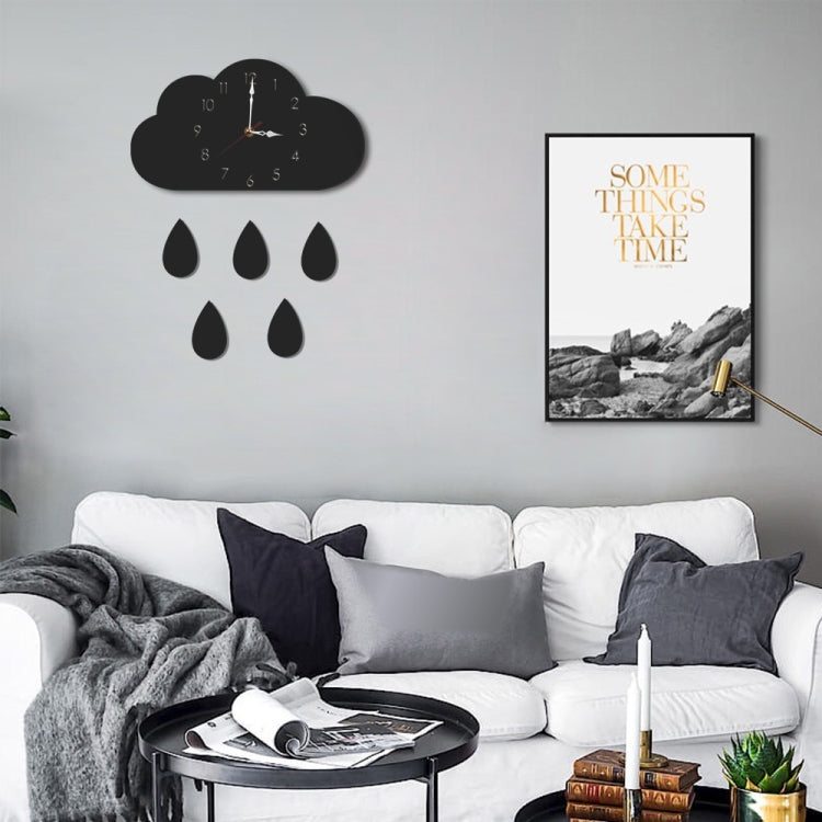 Clouds Pattern Creative Living Room Decorative Wall Clock (Black) |