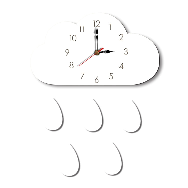 Clouds Pattern Creative Living Room Decorative Wall Clock (White) - Star Produkte