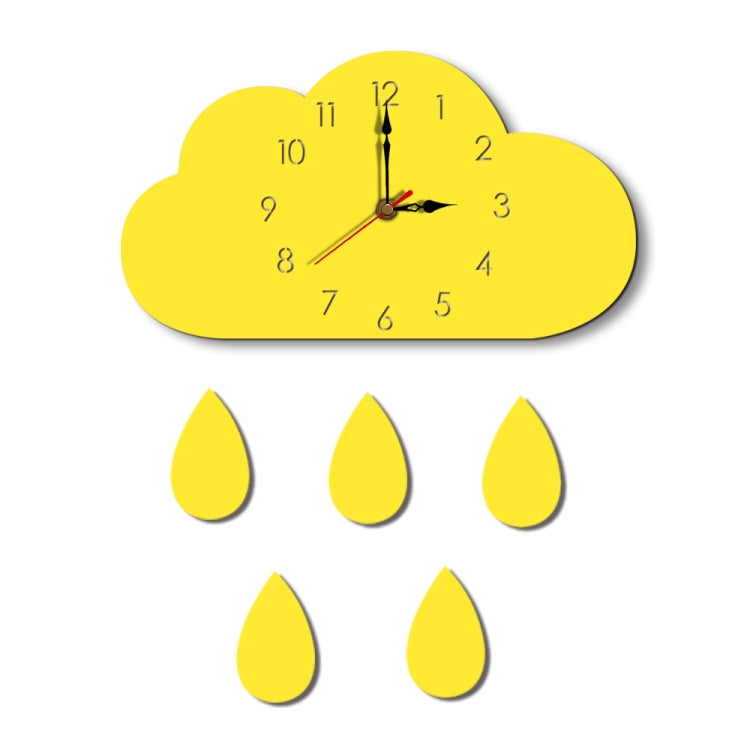 Clouds Pattern Creative Living Room Decorative Wall Clock (Yellow) - Star Produkte