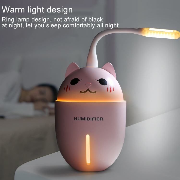 2W Creative Mini Portable Cute Pet Shape Mute Desktop Air Humidifier with Extended USB Port, Capacity: 320ml, DC 5V(White) - Star Produkte