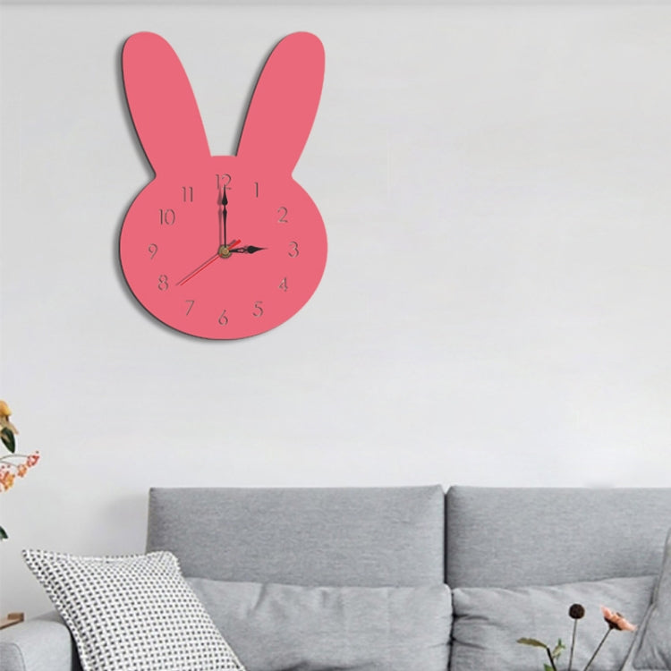 Rabbit Pattern Creative Living Room Decorative Wall Clock (Pink) - Star Produkte