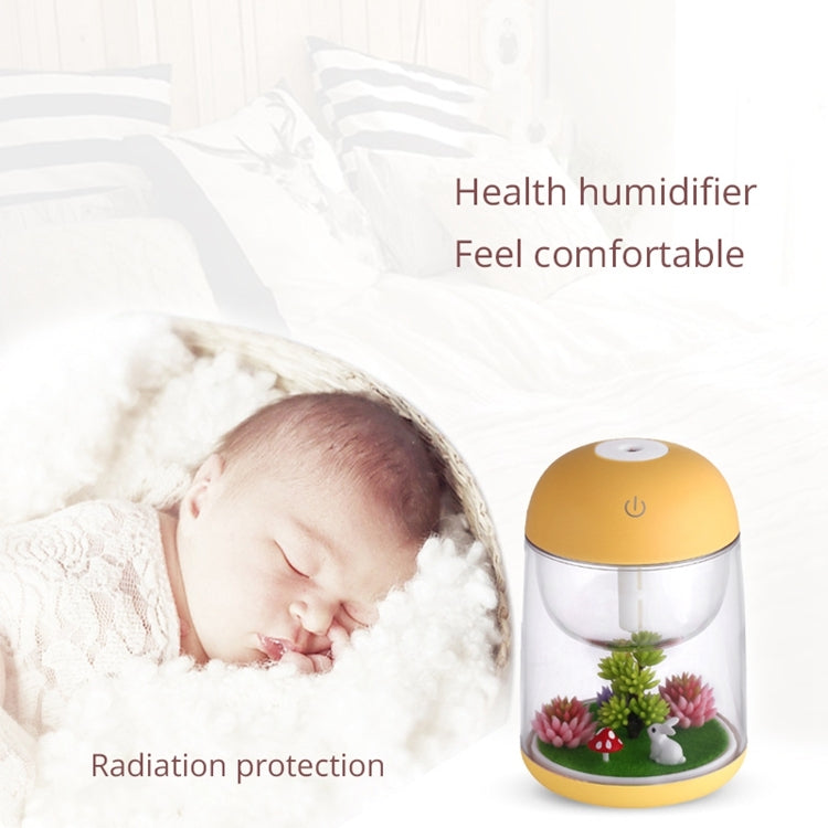 Imycoo WT602 2W Portable Mini Micro Landscape Design USB Charge Aromatherapy Air Humidifier with LED Colorful Light, Water Tank Capacity: 180ml, DC 5V(Yellow) |