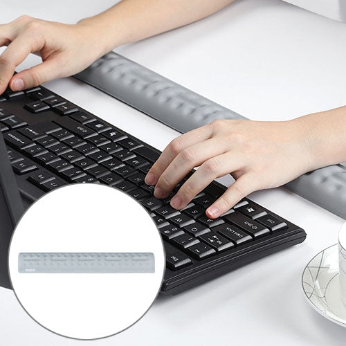 BUBM Mouse Pad Wrist Support Keyboard Memory Pillow Holder, Size: 36 x 5.5 x 1.7cm (Grey) - Star Produkte