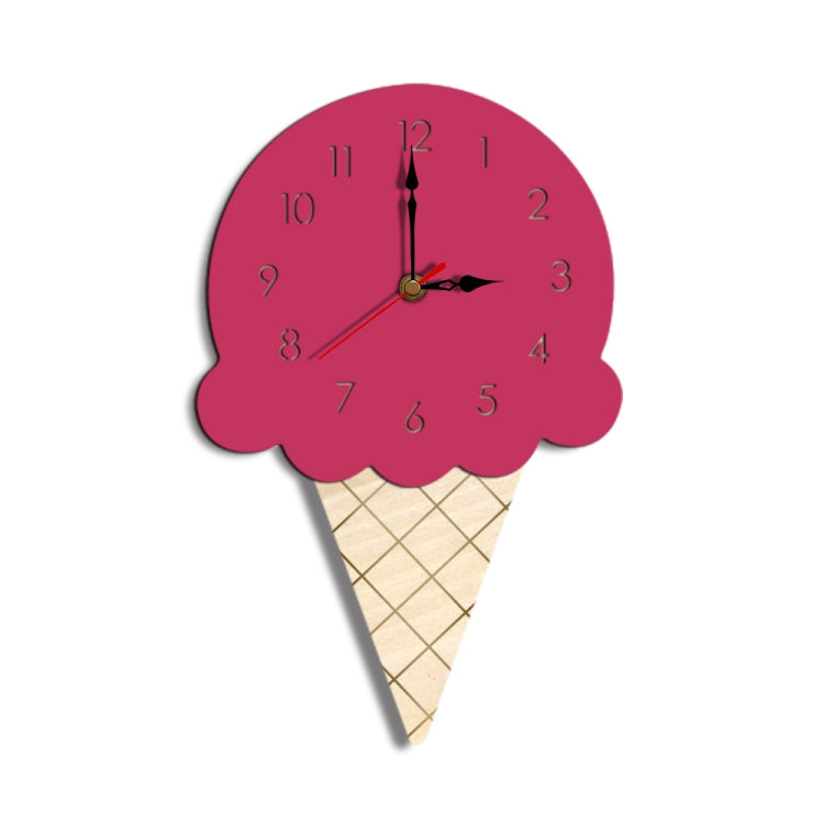 Ice Cream Styling Decorative Wall Clock (Pink) - Star Produkte