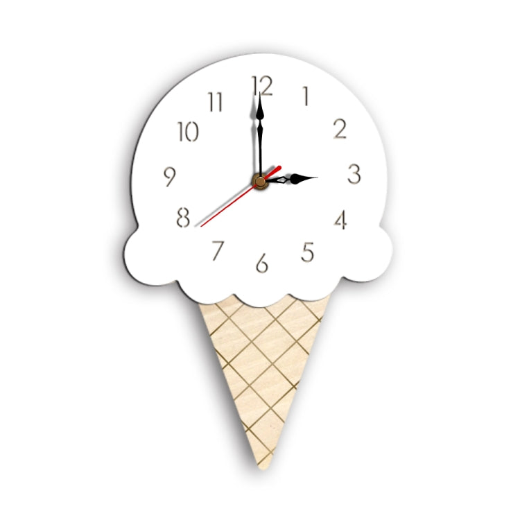 Ice Cream Styling Decorative Wall Clock (White) - Star Produkte