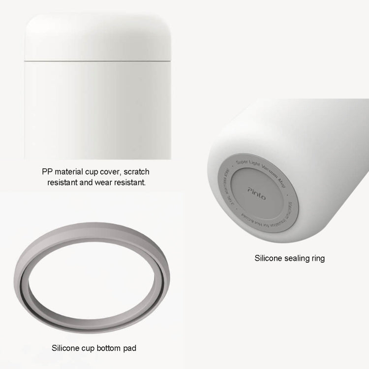 Original Xiaomi Youpin Pinlo Portable Stainless Steel Vacuum Thermal Braising Cup Cold Preservation Bottle, Capacity : 500mL(White) - Star Produkte
