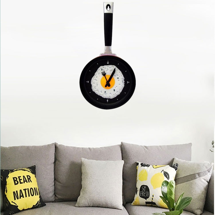 Fried Egg Pan Shape Creative Living Room Decorative Wall Clock (Red) - Star Produkte
