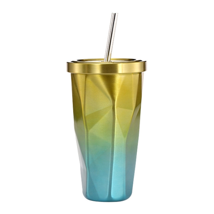 500ml Irregular Double Layer 304 Stainless Steel Sippy Cup (Yellow) - Star Produkte