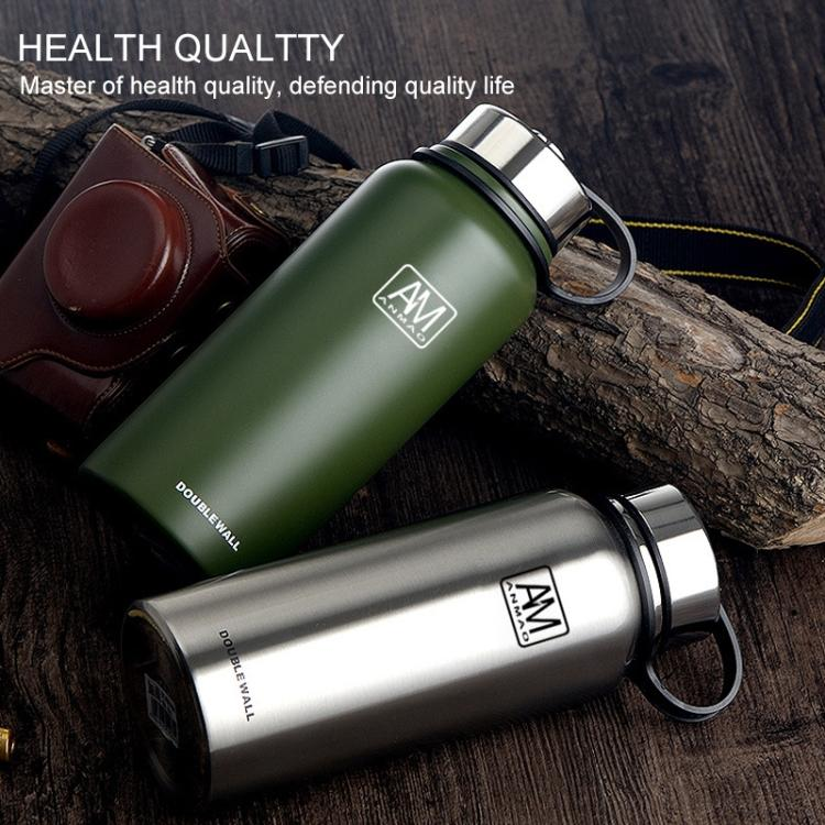 1500ml Outdoor Vacuum Stainless Steel Heat Insulation Cup Portable Large Capacity Sports Bottle(Black) - Star Produkte