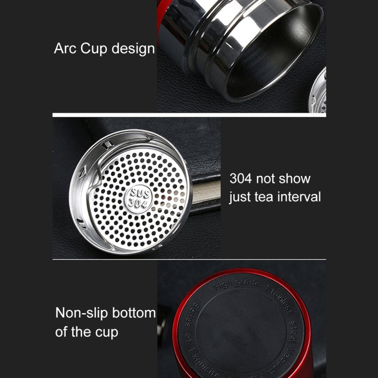 500ml Outdoor Portable 304 Stainless Steel Heat Insulation Cup (Black) |
