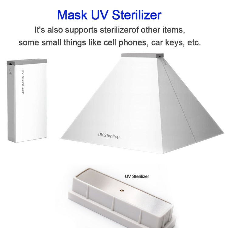 YSC-056 Portable UV Light Disinfection Sterilizer Smartphone Underwear Sterilization Cleaning Box (White) |