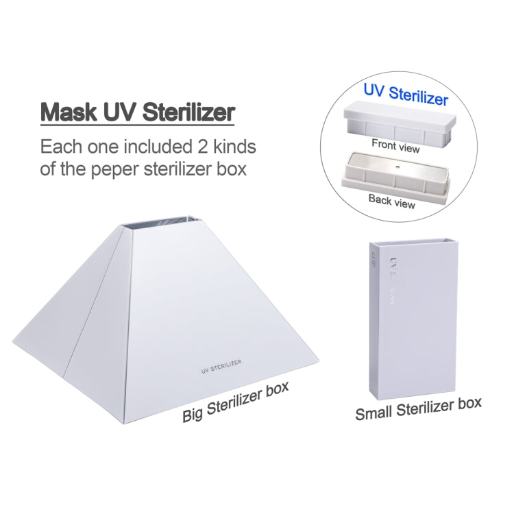 YSC-056 Portable UV Light Disinfection Sterilizer Smartphone Underwear Sterilization Cleaning Box (White) - Star Produkte