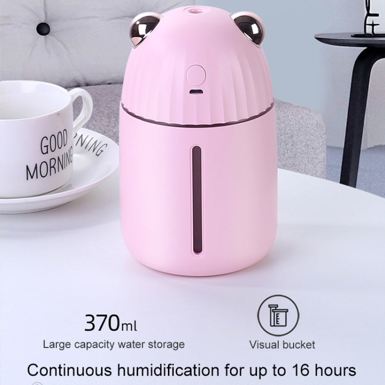 JOYROOM JR-CY280 Happy Bear Shape Silent Humidifier Automatic Alcohol Sprayer with Colorful Atmosphere Lights, Water Tank Capacity: 370mL(Black) |