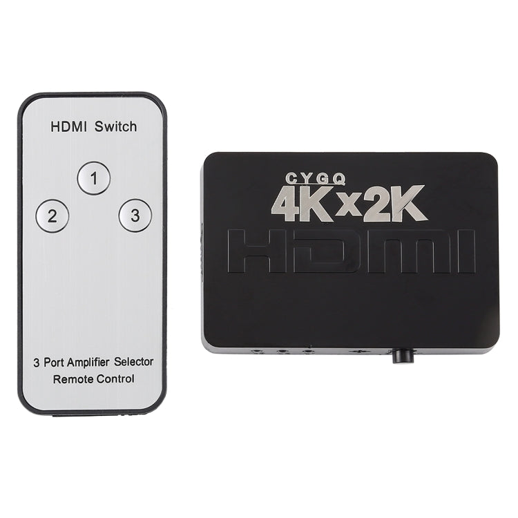 4K 3 Ports HDMI Switch with Remote Control |