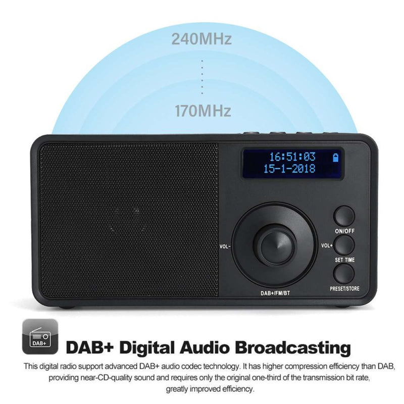 Tragbares DAB+ FM Digital Radio-Player mit Bluetooth - Elektroniktrade