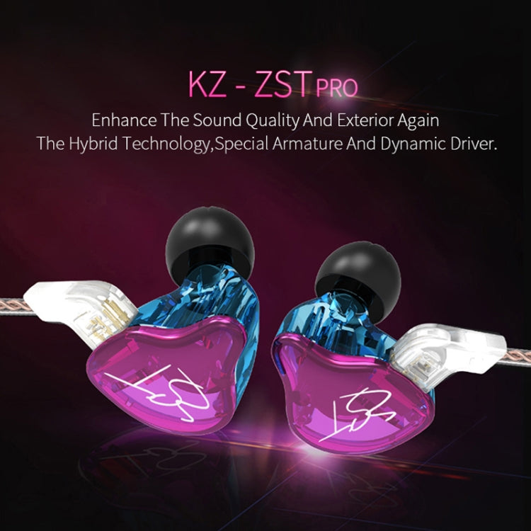 KZ ZST Circle Iron In-ear Mega Bass MP3 Dual Unit Earphone without Microphone (Carbon Fiber Black) |
