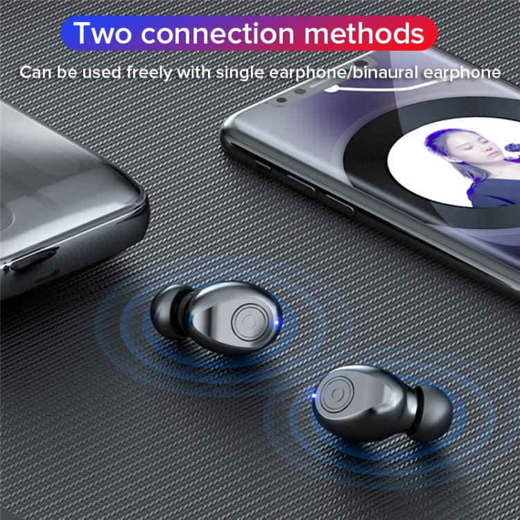 F9 TWS V5.0 Binaural Wireless Stereo Bluetooth Headset with Charging Case (Black) - star-produkte.myshopify.com