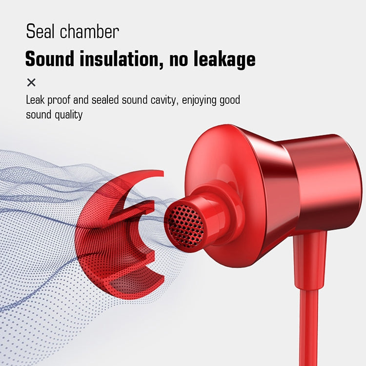Original Lenovo HF130 High Sound Quality Noise Cancelling In-Ear Wired Control Earphone(Red) |