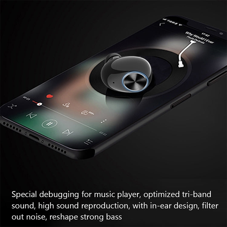 V8 Stereo Ergonomic Design Binaural Bluetooth 5.0 Earphone with Charging Box (Rose Gold) - star-produkte.myshopify.com
