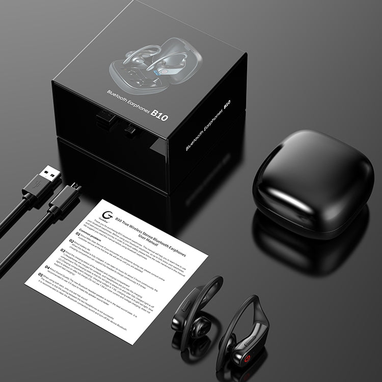 B10 Bluetooth 5.0 Wireless Bluetooth Earphone with LED Digital Display & Charging Box, Compatible with IOS & Android System Equipment - star-produkte.myshopify.com