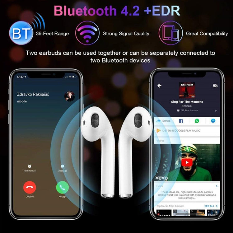 i7 mini TWS Hi-Fi Stereo Dual Noise Reduction Wireless Bluetooth 4.2+EDR Earphones with Charging Case - star-produkte.myshopify.com
