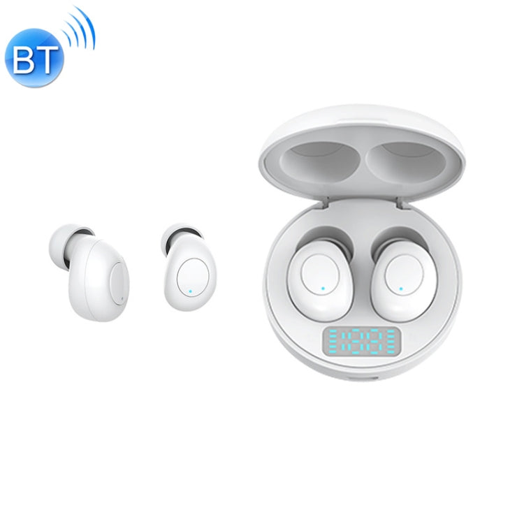 J1 TWS Digital Display Bluetooth V5.0 Wireless Earphones with LED Charging Box (White) - star-produkte.myshopify.com