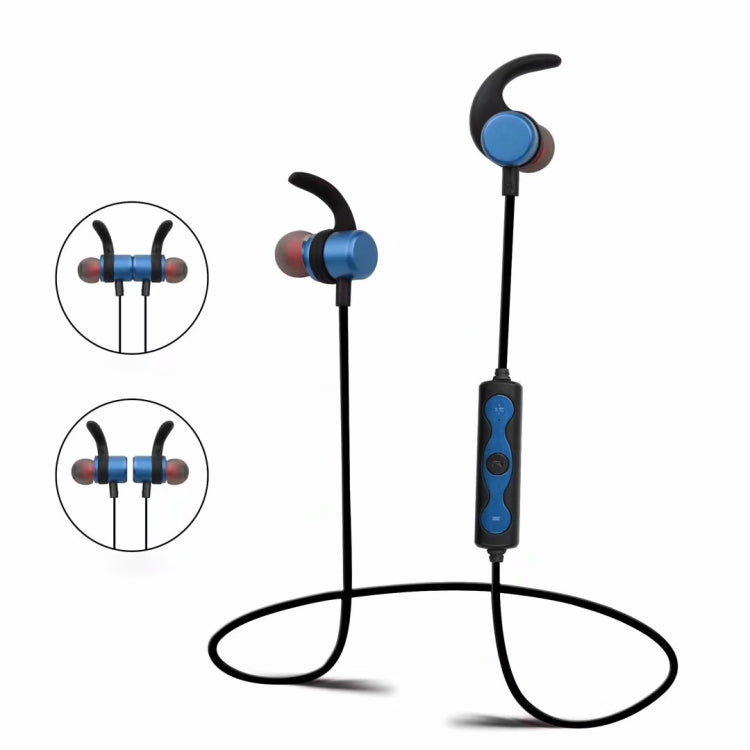 STN-V1 Portable Bluetooth Earphone with Magnetic Switch (Blue) - star-produkte.myshopify.com