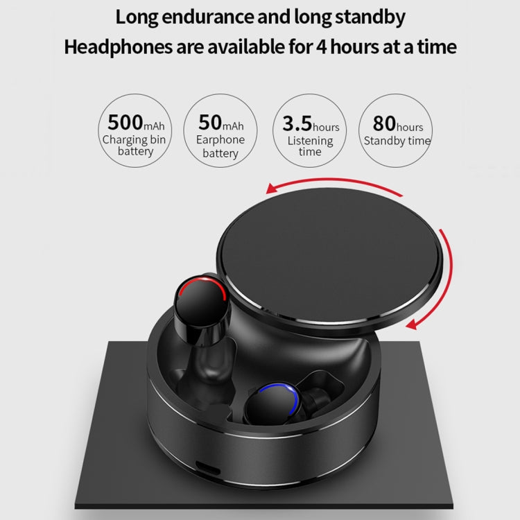 ME-28 Bluetooth 5.0 Monaural Rotatable Stereo Wireless Bluetooth Earphone (Black) - star-produkte.myshopify.com