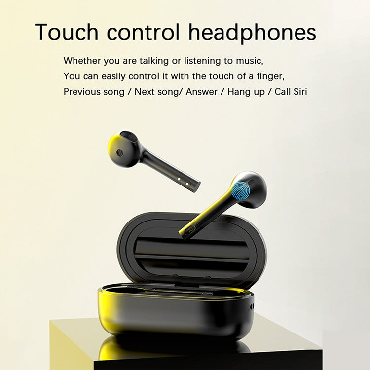 J1 Bluetooth 5.0 True Wireless Binaural Stereo Sports Bluetooth Earphone with Charging Case(White) - star-produkte.myshopify.com
