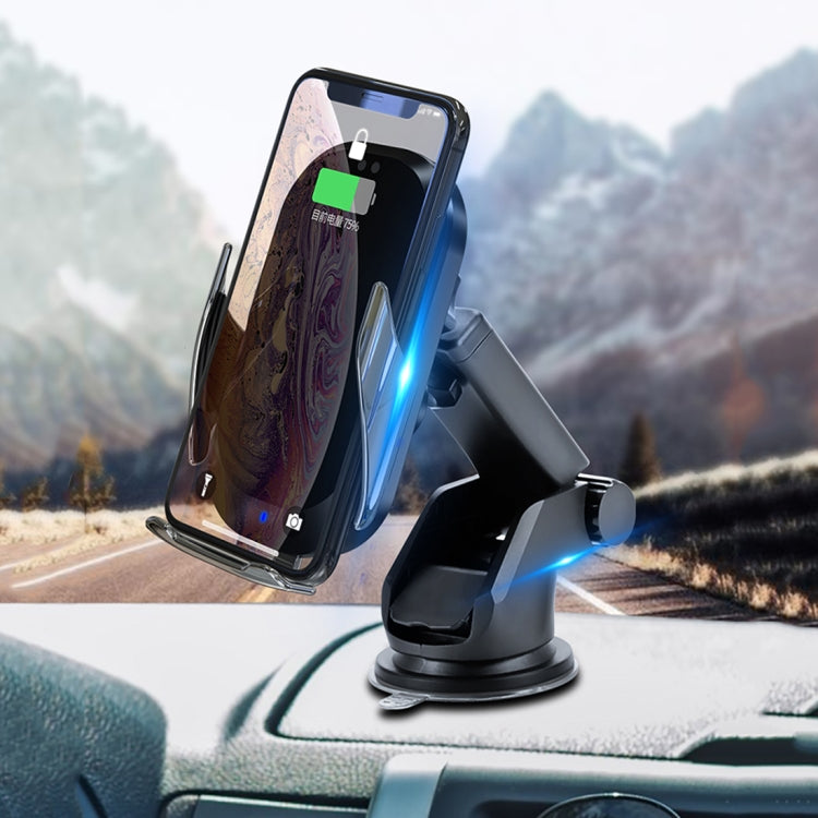 HAMTOD C20 15W Adjustable QI Smart Sensor Car Wireless Charging Holder for 4.6-7 inch Mobile Phones, with Suction Cup - star-produkte.myshopify.com