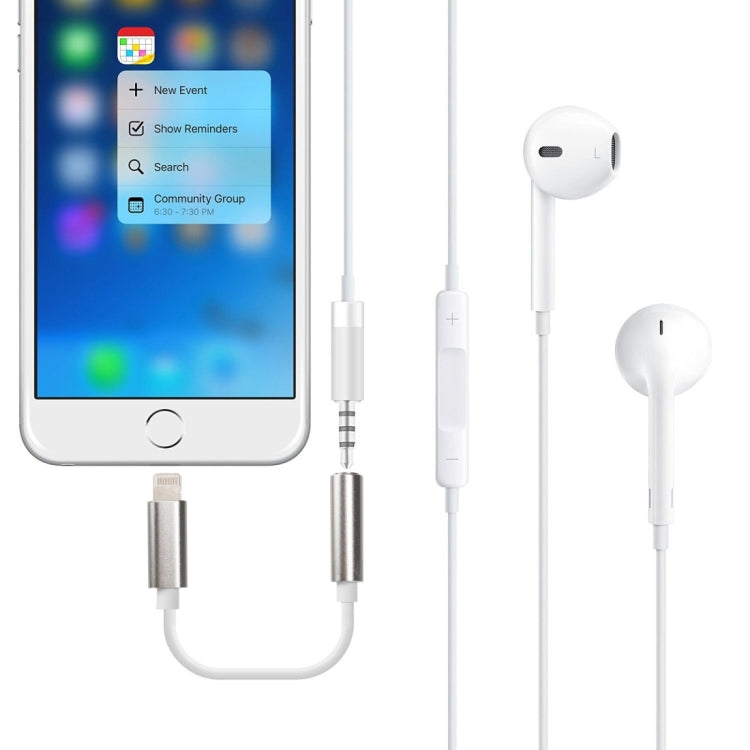 8 Pin to 3.5mm Audio Adapter, Length: About 12cm, Support iOS 13.1 or Above(Silver) |