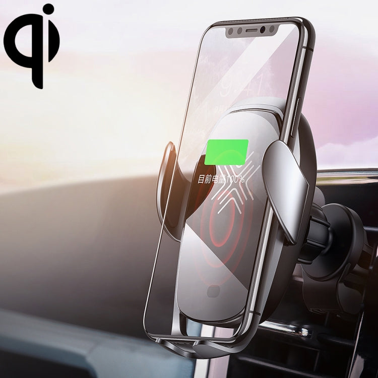 ROCK W28 15W QI Induction Wireless Charging Car Air Outlet Bracket for 4.7-6.5 inch Mobile Phones (Tarnish) - star-produkte.myshopify.com