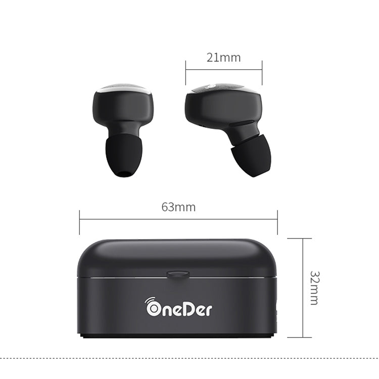 Oneder W11 True TWS Wireless Bluetooth Earphones Earbuds Stereo Headset(White) - star-produkte.myshopify.com