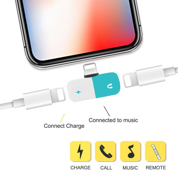 2 in 1 Dual 8 Pin Female to 8 Pin Male Pill Capsule Shape Mini Portable Audio & Charge Adapter Audio Splitter, For iPhone XS / iPhone XS Max / iPhone XR / iPhone X / iPhone 8 & 8 Plus / iPhone 7 & 7 Plus - Star Produkte