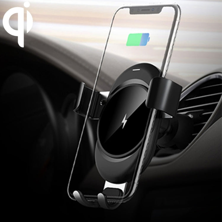 lenuo CL-28 Clamping Gravity Holder Car Air Vent Mount Qi Wireless Charger, For iPhone, Galaxy, Sony, Lenovo, HTC, Huawei, and other Smartphones(Black) - star-produkte.myshopify.com