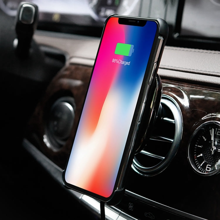 NILLKIN MC016 Genuine Leather Car Holder Fast Charging Qi Magnetic Wireless Charger with iPhone X Genuine Leather Case, For iPhone XR / iPhone XS MAX / iPhone X & XS / iPhone 8 & 8 Plus / iPhone 7 & 7 Plus / iPhone 6 & 6s & 6 Plus & 6s Plus / iPad(Black) - star-produkte.myshopify.com