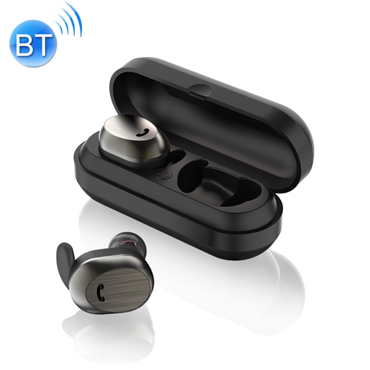 WK BD800 TWS Bluetooth 4.2 Wireless Separate Bluetooth Earphone with Magnetic Adsorption Charging Case(Black) - star-produkte.myshopify.com