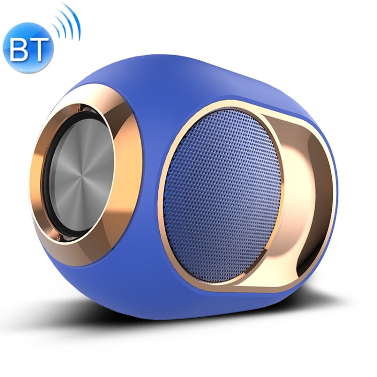 X6 TWS Outdoor Waterproof Bass Wireless Bluetooth Speaker, Support Hands-free / USB / AUX / TF Card (Blue) |