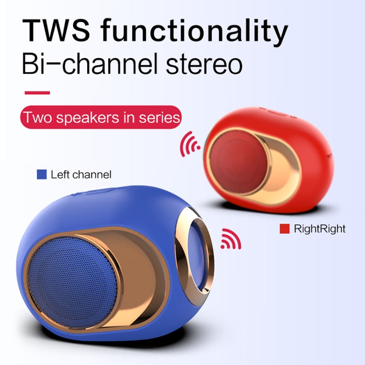 X6 TWS Outdoor Waterproof Bass Wireless Bluetooth Speaker, Support Hands-free / USB / AUX / TF Card (Blue) - Star Produkte