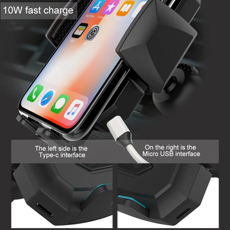 Induction Automatic Car Air Vent Phone Holder Qi Standard Wireless Charger for 4-6.5 inch Smartphones(Black) - star-produkte.myshopify.com