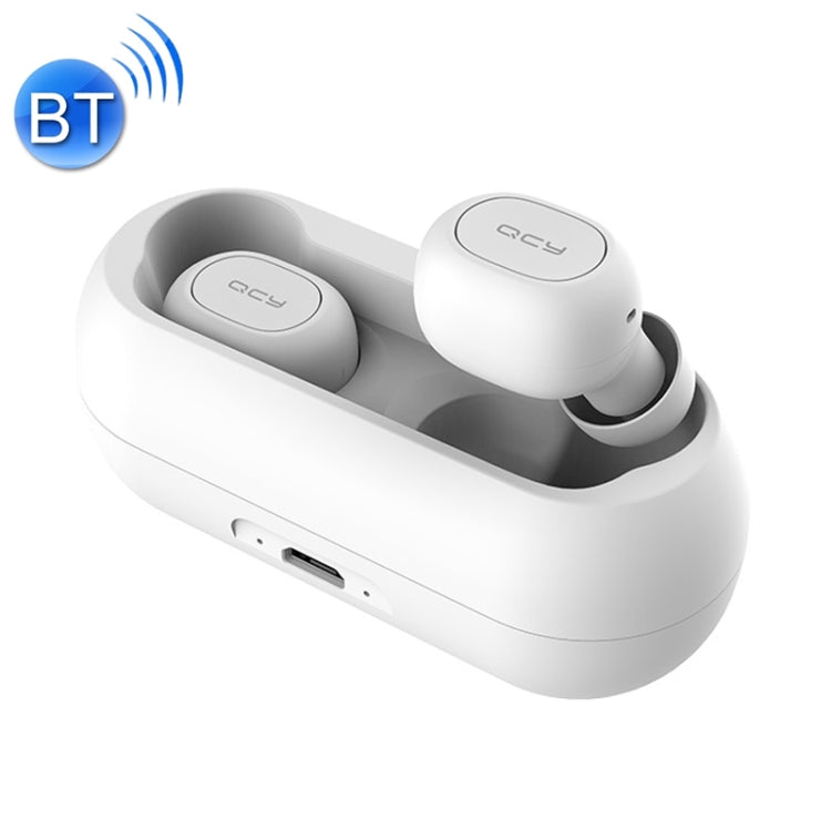QCY T1C TWS Bluetooth 5.0 In-ear Mini Wireless Noise Cancellation Earphone, For iPad, iPhone, Galaxy, Huawei, Xiaomi, LG, HTC and Other Smart Phones(White) - star-produkte.myshopify.com