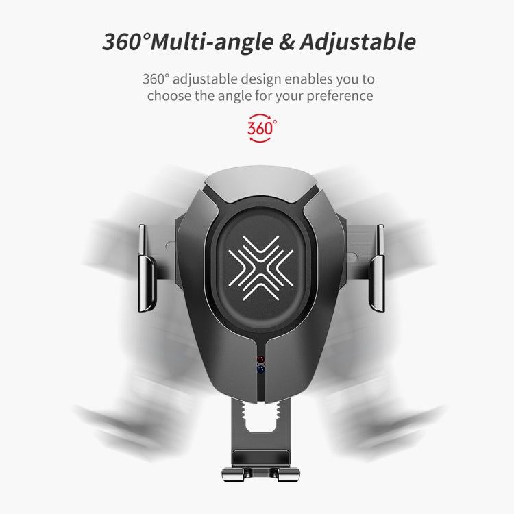 ROCK RWC-0232 10W QI Rotatable Infrared Touch Induction Wireless Charging Car Air Outlet Bracket for 4.7-6.5 inch Mobile Phones, B Version(Black) - star-produkte.myshopify.com